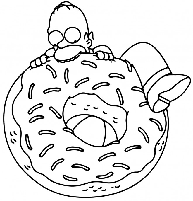 Coloriage homer simpson gourmand dessin gratuit imprimer - Coloriage homer simpson ...