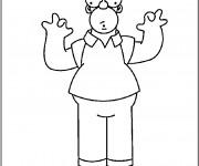 Coloriage et dessins gratuit Homer Simpson qui fait rire à imprimer