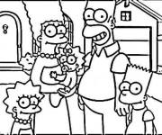 Coloriage et dessins gratuit La Famille Simpson à imprimer