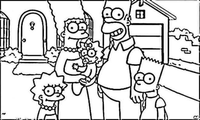 Coloriage La Famille Simpson Dessin Gratuit A Imprimer
