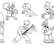 Coloriage La Famille Simpson facile