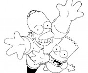Coloriage dessin  Simpson 41
