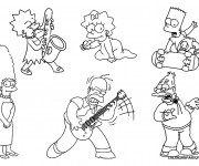 Coloriage dessin  Simpson 43