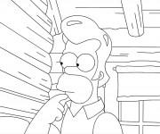 Coloriage Simpson Homer avec des cheveux