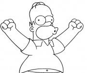 Coloriage Simpson Homer en ligne