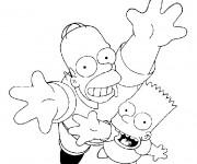 Coloriage Simpson Homer et Bart