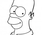 Coloriage et dessins gratuit Visage de Homer Simpson à imprimer