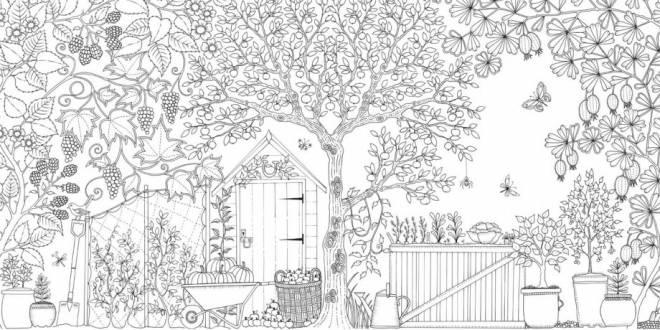 Coloriage Jardin difficile à colorier dessin gratuit à imprimer