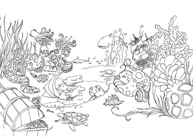 Coloriage Jardin et Animaux dessin gratuit à imprimer