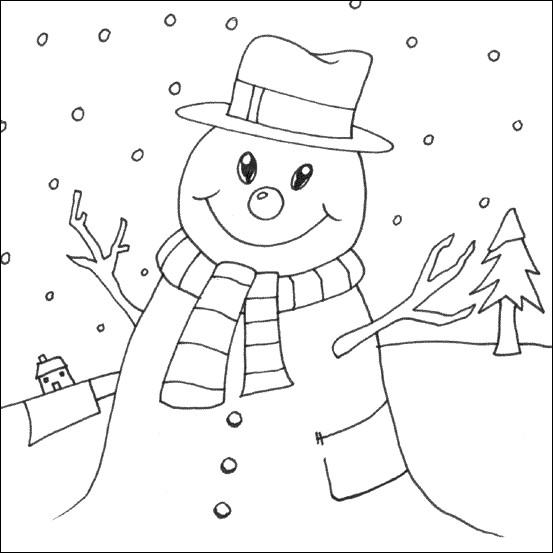 Coloriage et dessins gratuits La Neige Hiver à imprimer