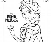 Coloriage et dessins gratuit Affiche de Elsa La Reine de Neiges à imprimer