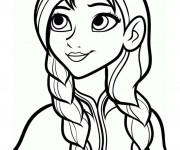 Coloriage Anna La Soeur de Elsa