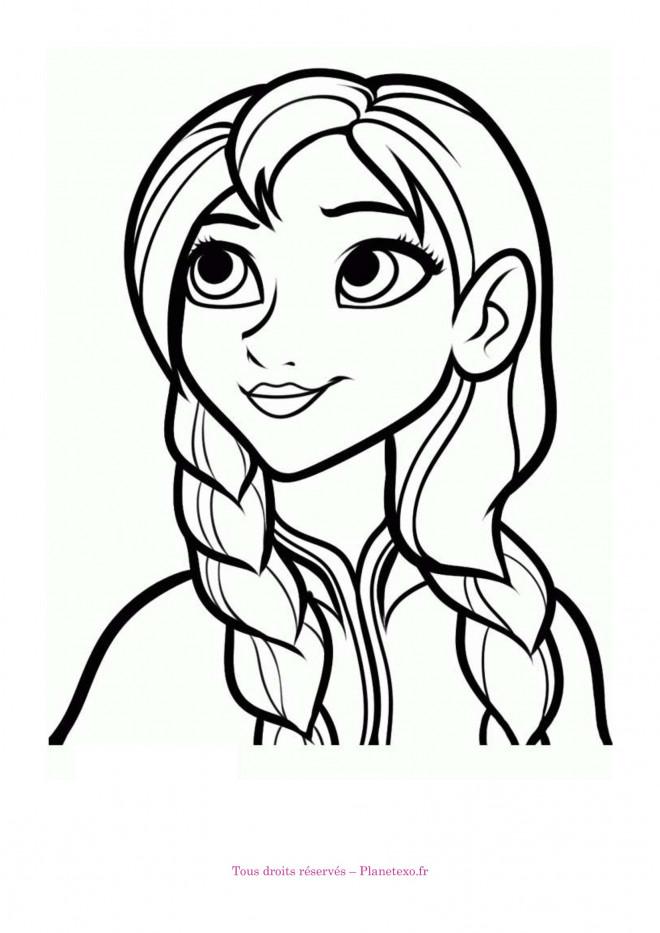 Coloriage Anna La Soeur De Elsa Dessin Gratuit à Imprimer