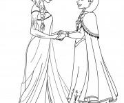 Coloriage dessin  Elsa 5