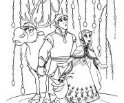 Coloriage Fantastique Reine des Neiges et ses amis
