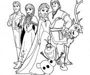 Coloriage La famille de la Reine des Neiges