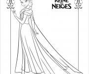 Coloriage et dessins gratuit La Reine des Neiges à découper à imprimer