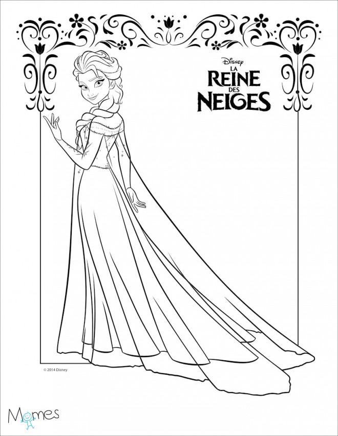 Coloriage La Reine Des Neiges A Decouper