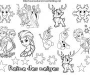 Coloriage et dessins gratuit La Reine des Neiges dessin animé à imprimer