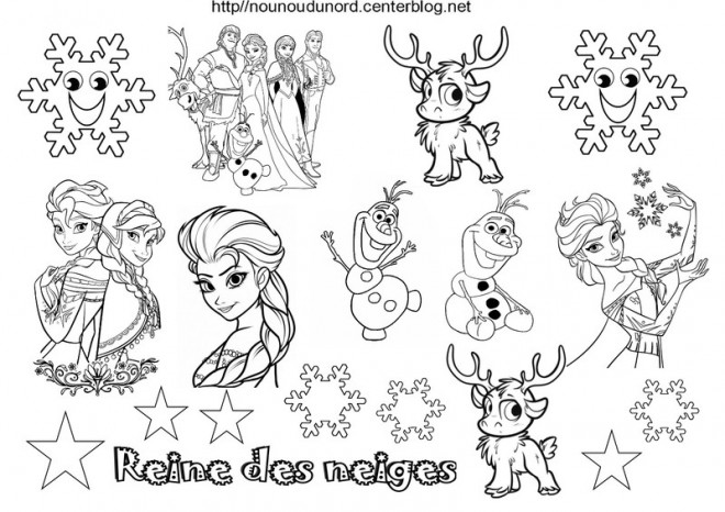 Coloriage La Reine Des Neiges Dessin Anime