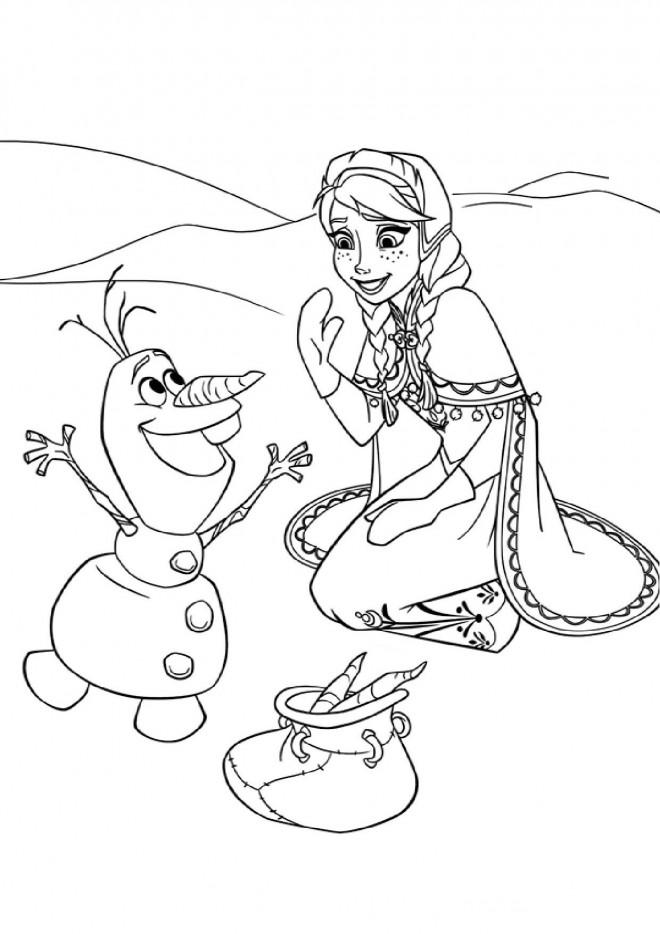 Coloriage La Reine des Neiges dessin animé