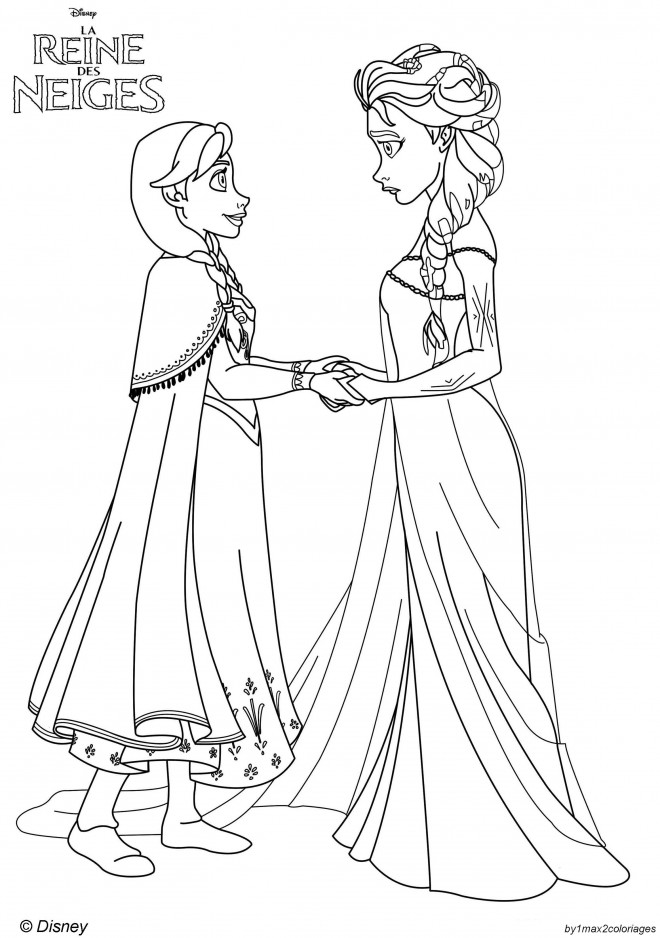 Coloriage et dessins gratuits La Reine des Neiges Disney à imprimer