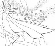 Coloriage La Reine des Neiges Elsa Magique