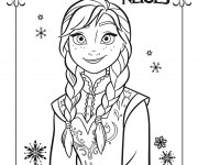 Coloriage La Reine des Neiges Else Film