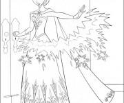 Coloriage et dessins gratuit La Reine des Neiges en colère à imprimer