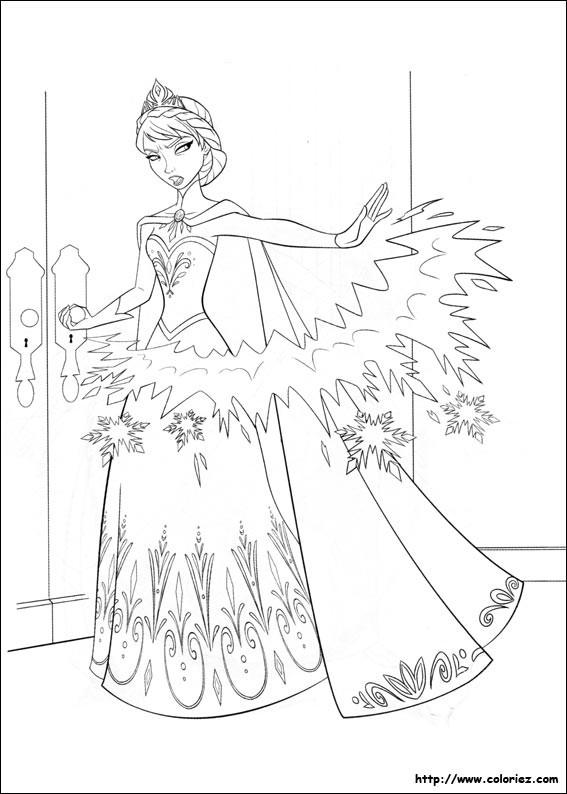 Coloriage et dessins gratuits La Reine des Neiges en colère à imprimer