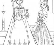 Coloriage et dessins gratuit La Reine des Neiges en ligne à imprimer