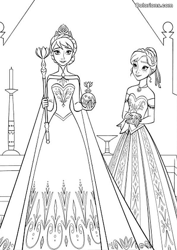 Coloriage et dessins gratuits La Reine des Neiges en ligne à imprimer