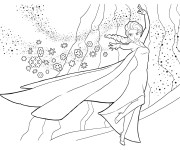 Coloriage et dessins gratuit La Reine des Neiges en toute beauté à imprimer