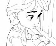 Coloriage La Reine des Neiges Enfance