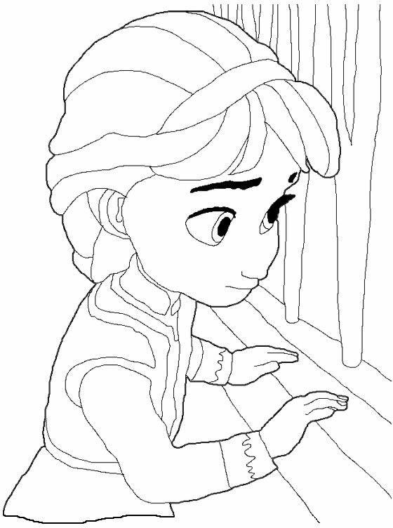 Coloriage la reine des neiges enfance dessin gratuit imprimer - La reine des neiges petite ...
