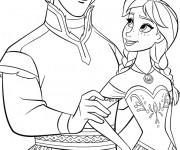 Coloriage et dessins gratuit La Reine des Neiges et Hans à imprimer