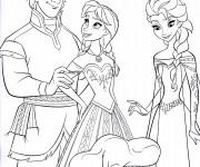 Coloriage et dessins gratuit La Reine des Neiges et Kristoff à imprimer