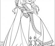 Coloriage et dessins gratuit La Reine des Neiges et Sa Mère à imprimer