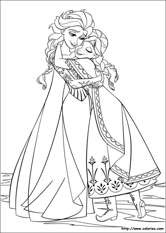 Coloriage et dessins gratuits La Reine des Neiges et Sa Mère à imprimer