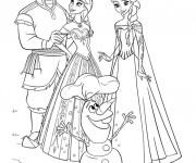 Coloriage et dessins gratuit La Reine des Neiges et ses amis à imprimer