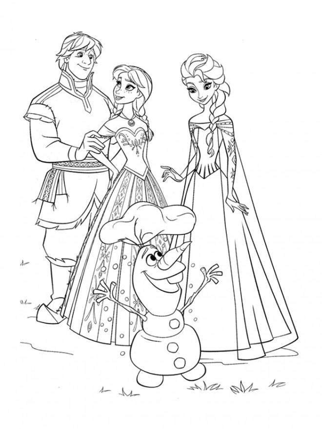 Coloriage et dessins gratuits La Reine des Neiges et ses amis à imprimer