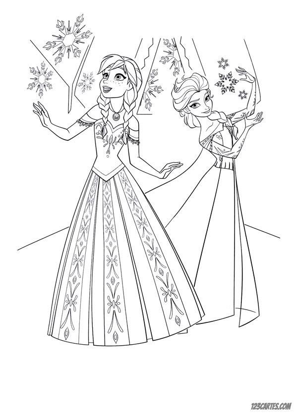 Coloriage et dessins gratuits La Reine des Neiges Film à imprimer