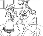 Coloriage et dessins gratuit La Reine des Neiges pour enfant à imprimer