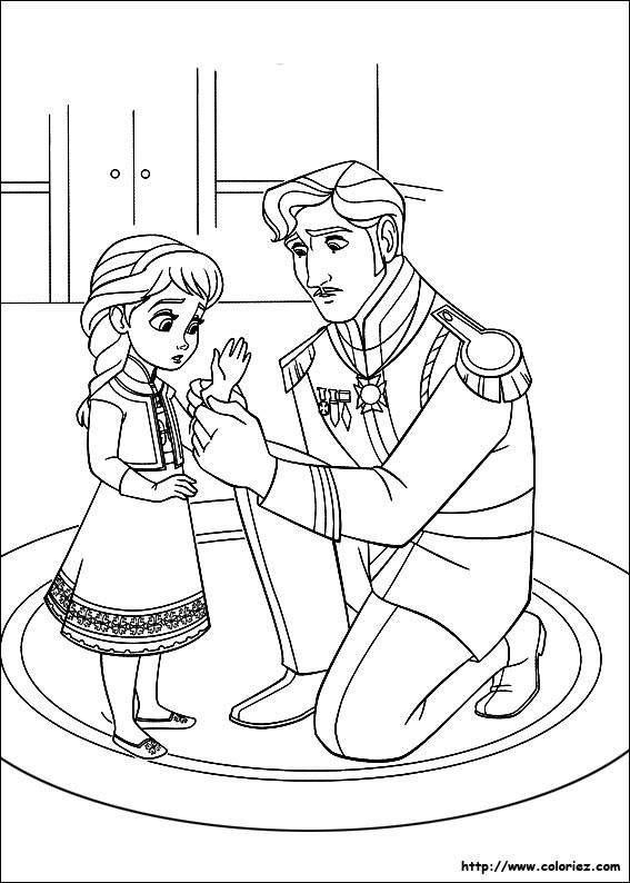 Coloriage et dessins gratuits La Reine des Neiges pour enfant à imprimer