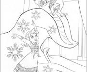 Coloriage et dessins gratuit Les deux petites Princesse amusées à imprimer