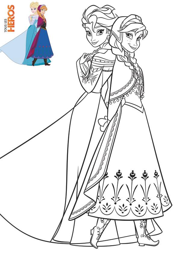 Coloriage Les Héroïnes de Film La Reine des Neiges