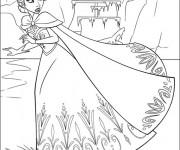 Coloriage Paysage de Elsa La Reine des Neiges