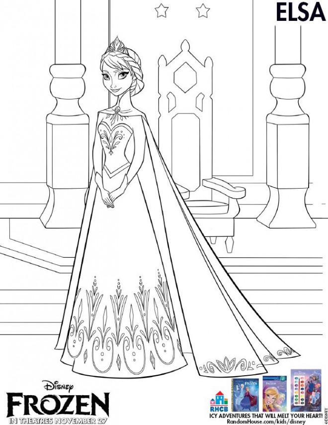 Coloriage Princesse Elsa Dessin Gratuit à Imprimer