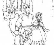 Coloriage dessin  Reine des Neiges Christophe