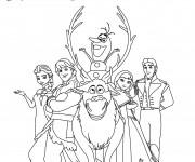 Coloriage Reine des Neiges et Les Personnages